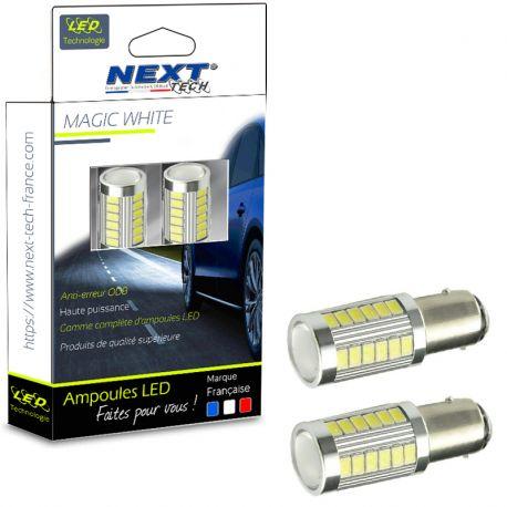 Ampoules P21W LED 24V Orange BA15S 1156 CANBUS clignotants pour camion