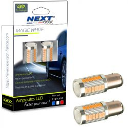 Ampoules LED PY21W 1156 BAU15S 21W clignotant - Orange