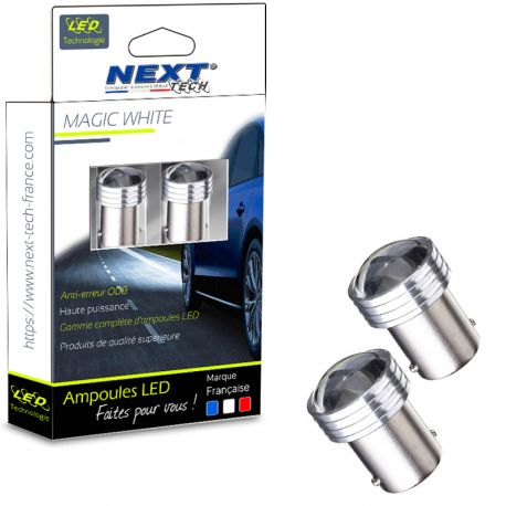 Ampoules LED P21W BA15S 1156 courtes - blanc