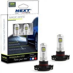 Ampoules LED PSX24W H16 35W haute puissance - Blanc