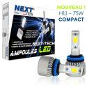 Ampoules H11 LED ventilées compactes 75W blanc - Next-Tech®