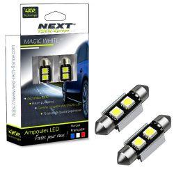 Veilleuses ampoules navette C3W 31mm à 2 Led CANBUS
