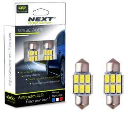 Ampoules navette C3W 31mm CANBUS Anti erreur ODB pour éclairage de plaque