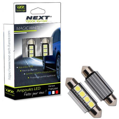 Veilleuses ampoules navette C10W à 4 Leds CANBUS