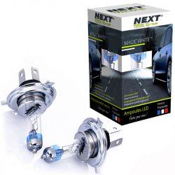 Ampoules H4 55W effet xenon - Magic White 5000K - Next-Tech®