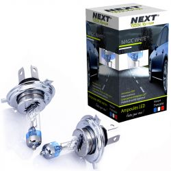 Ampoules H4 100W effet xenon - Magic White 5000K - Next-Tech®