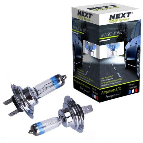 Ampoules H7 55W effet xenon - Magic White 5000K - Next-Tech®