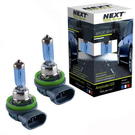 Ampoules H11 100W effet xenon - Magic White 5000K - Next-Tech®