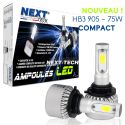 Ampoules HB3 9005 LED ventilées compactes 75W blanc - Next-Tech®