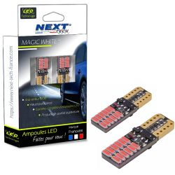 T10 W5W LED rouge Canbus - anti erreur ODB - plates