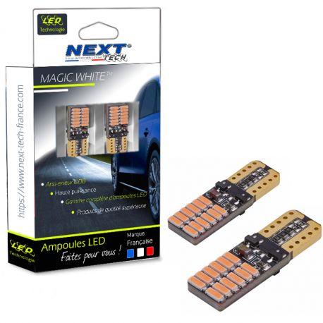 T10 W5W LED orange Canbus - anti erreur ODB - plates