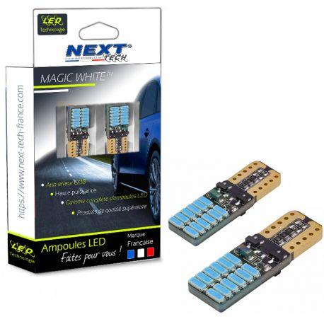 T10 W5W LED bleuté 8000K Canbus - anti erreur ODB - plates