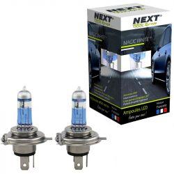 Ampoules effet xenon H4 55W - Magic White V2 4500K - Next-Tech®