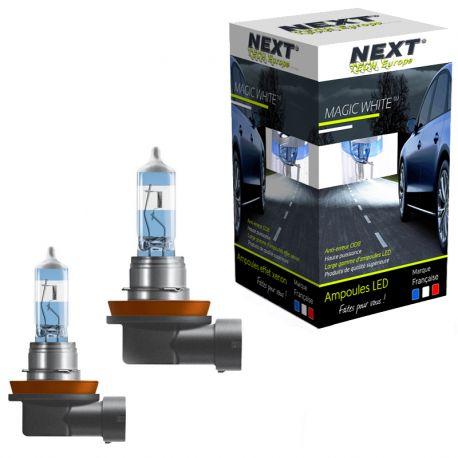 Ampoules effet xenon H11 100W Magic White V2 6000K Next-Tech®