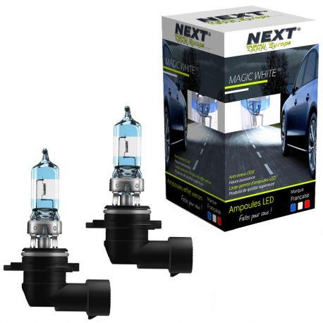 Ampoules effet xenon 9005 HB3 55W Magic White V2 6000K Next-Tech®