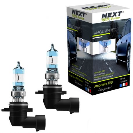 Ampoules effet xenon 9006 HB4 100W Magic White V2 6000K Next-Tech®