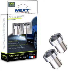 Ampoules LED R5W BA15S 1156 5W courtes - blanc