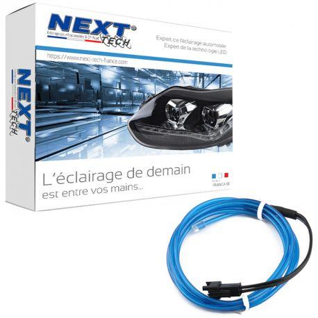 Eclairage LED d'ambiance flexible 2M pour habitacle véhicule - Bleu