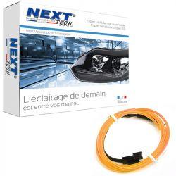 Eclairage LED d'ambiance flexible 2M pour habitacle véhicule - Orange