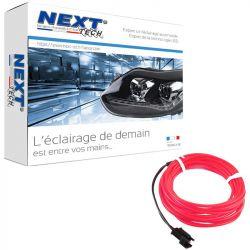 Eclairage LED d'ambiance flexible 2M pour habitacle véhicule - Rouge