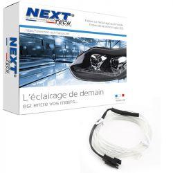 Eclairage LED d'ambiance flexible 2M pour habitacle véhicule - Blanc