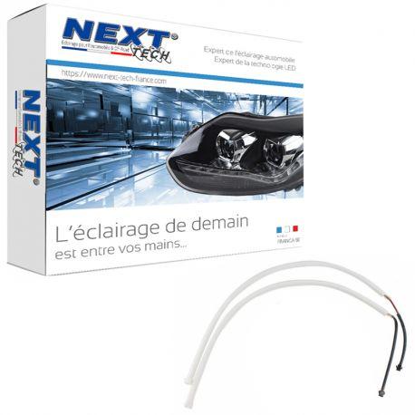 Feu de jour DRL bande flexible DUAL LED blanc et orange clignotant
