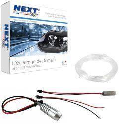 Eclairage habitacle voiture haut de gamme ruban LED 1m flexible - Blanc