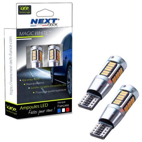 W5W T10 LED Haut de gamme CANBUS anti erreur - Orange