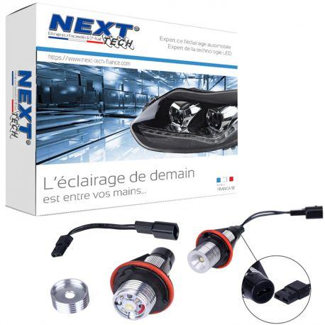 Angel Eyes à LED blanc BMW série 5 E60 - E61 Phase 1 avec xénon origine