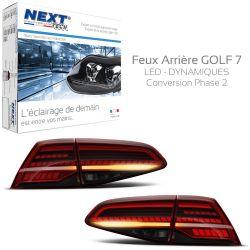 Feux arrière dynamiques Golf 7 conversion Phase 2