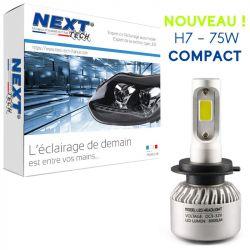 Ampoule moto ventilée H7 LED compacte 75W blanc - Next-Tech®