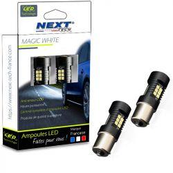 Ampoules P21W LED BA15S canbus 35W feux de jour - Blanc