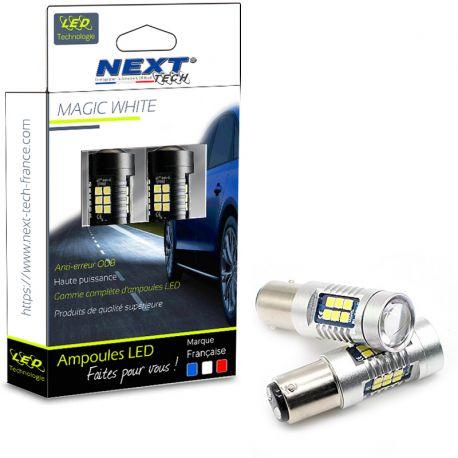 Ampoules P21/5W LED BAY15D canbus 35W feux de stop - Rouge