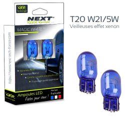 Ampoules W21/5W T20 effet xenon 7443 12V 21/5W blanc pur