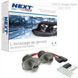 Pack Angel Eyes BMW E90 - E91 LED 40W 6000K blanc