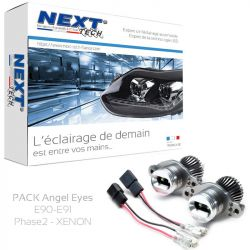 Pack Angel Eyes LED BMW E90 - E91 LCI PH2 40W 6000K blanc