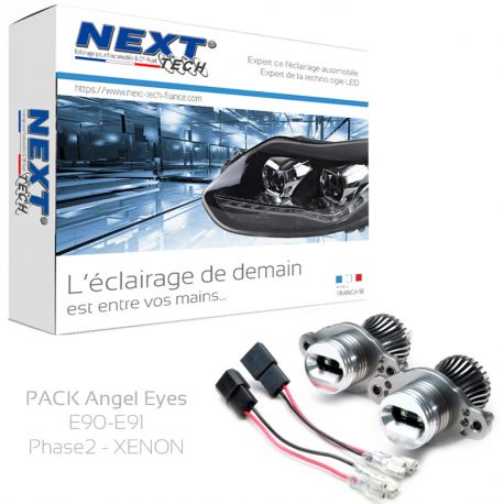 Pack Angel Eyes LED BMW E90 - E91 LCI PH2 40W 6000K blanc