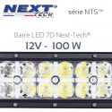 Barre LED 7D 4x4 12v 100W - 300mm - serie NTS Next-Tech