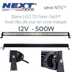 Barre LED 7D 4x4 12v 500W - 1320mm - série NTS™