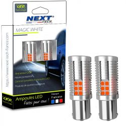 Ampoules LED P21W CANBUS BA15S Orange - Next-Tech®