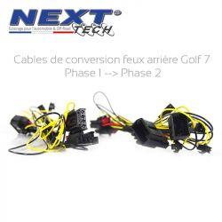 Câbles de conversion feux arrière Golf 7 dynamique Ph1 vers Ph 2