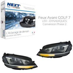 Feux avant GOLF 7 Bi-Xénon Dynamique MK7 LED