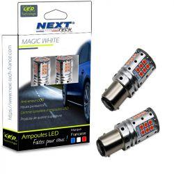 Ampoules LED P21/5W BAY15D canbus ODB feux de stop - Rouge
