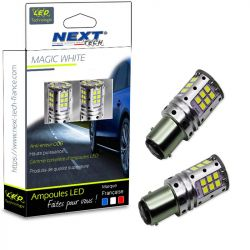 Ampoules LED P21/5W BAY15D canbus ODB feux de jour - Blanc