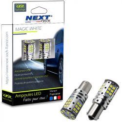 Ampoules LED P21W BA15S canbus ODB 21W feux de jour - Blanc