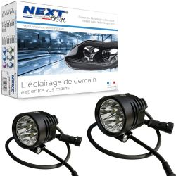 Phares LED pour moto NT-XP4 12V 50W haut de gamme - noir