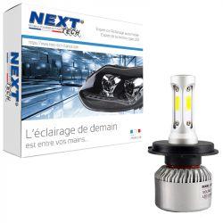 Ampoule moto ventilée H4 LED compacte 75W blanc - Next-Tech®