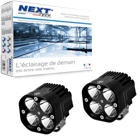 Feux LED moto carrés NT-CX4 12V 50W haut de gamme noir