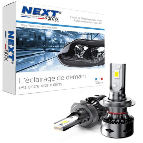 Ampoules 9012 HIR2 LED ventilées compactes 75W blanc - Next-Tech®