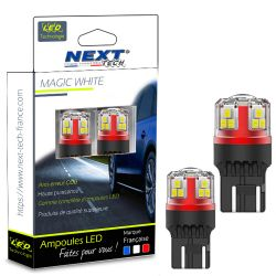 Ampoules T20 LED W21/5W 7443 Canbus 12-24V Blanc